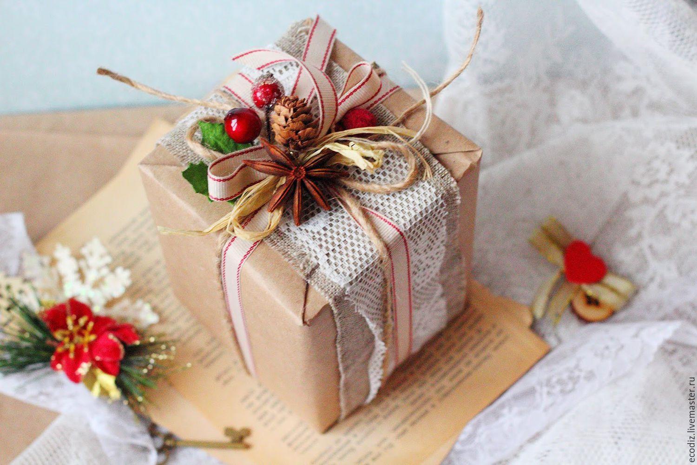 Украшаем коробки к новому году своими руками