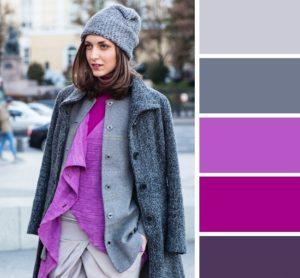 Сочетание в одежде серый