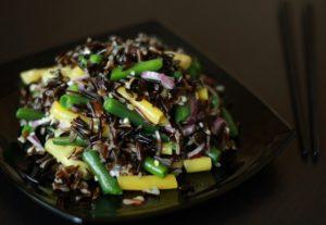 бурый рис с овощами