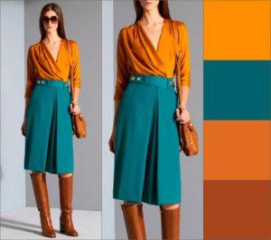 Цветовые сочетания в одежде зеленый