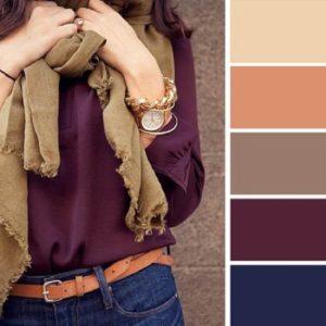 Цветовые сочетания в одежде бежевый