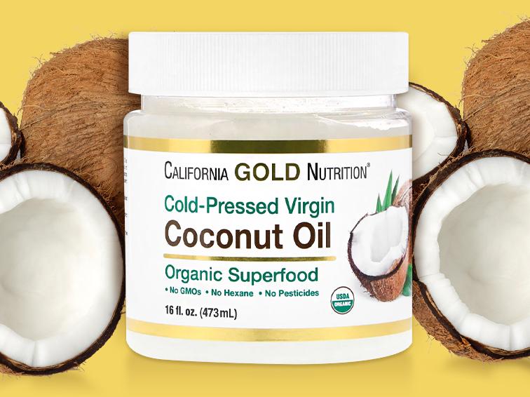 Кокосовое масло можно купить на iHerb