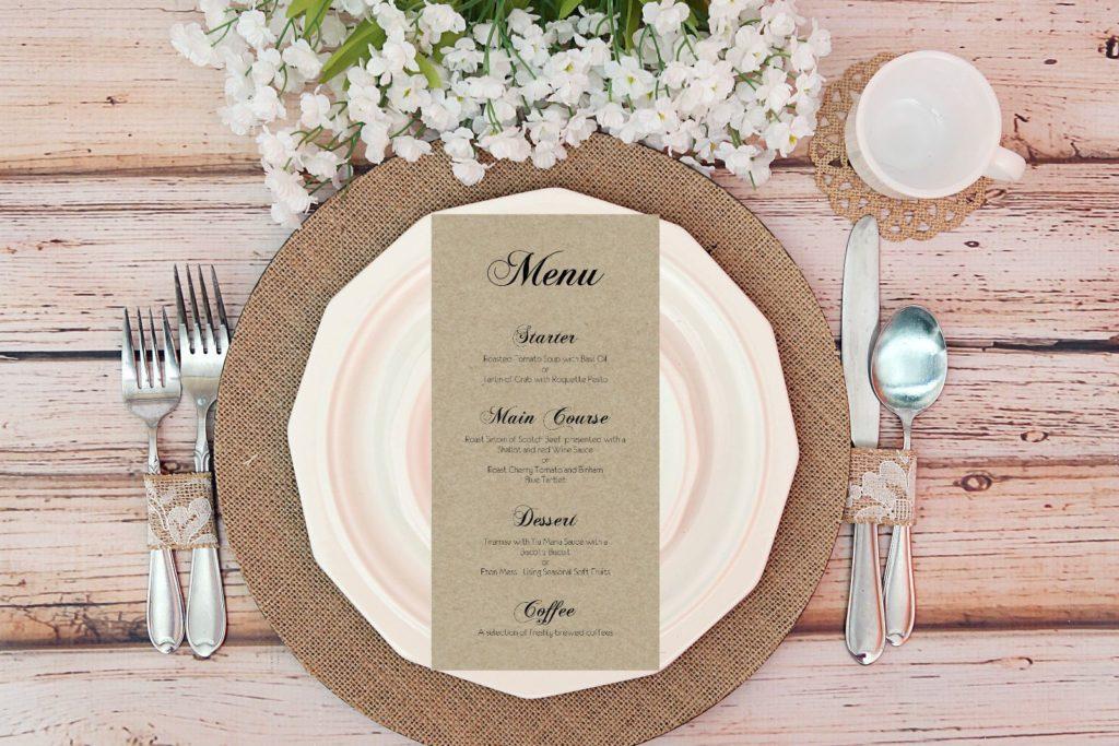 Как сэкономить на свадьбе меню
