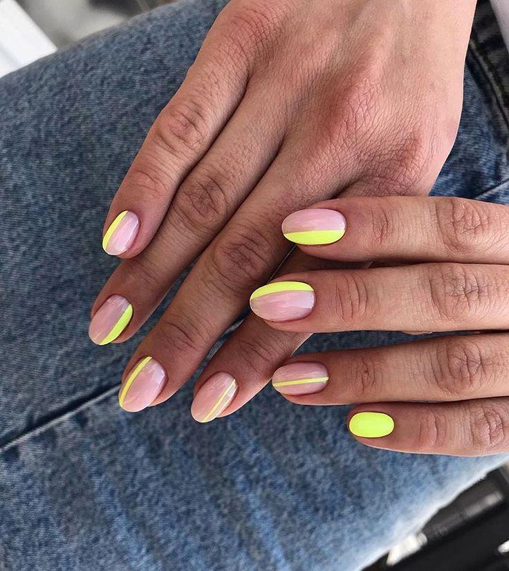 модный маникюр на короткие ногти 2020г