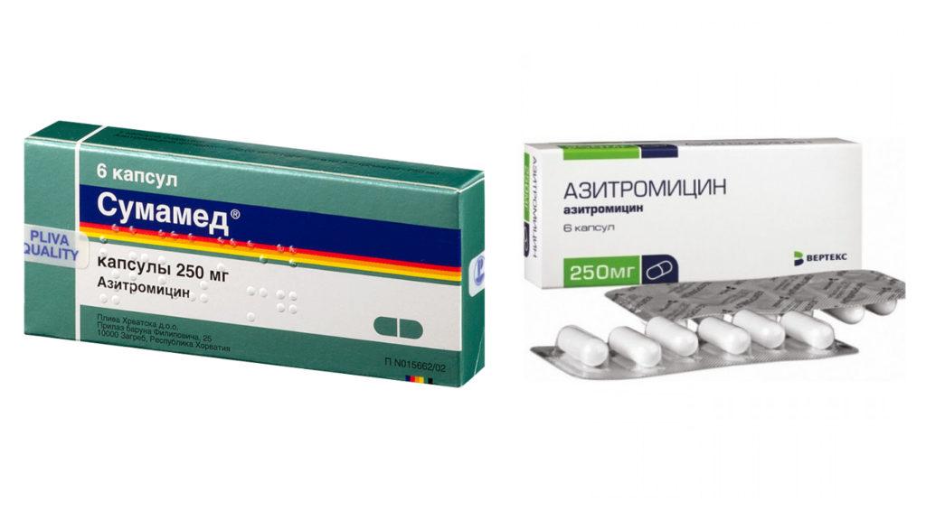 Макролиды Азитромицин, Сумамед