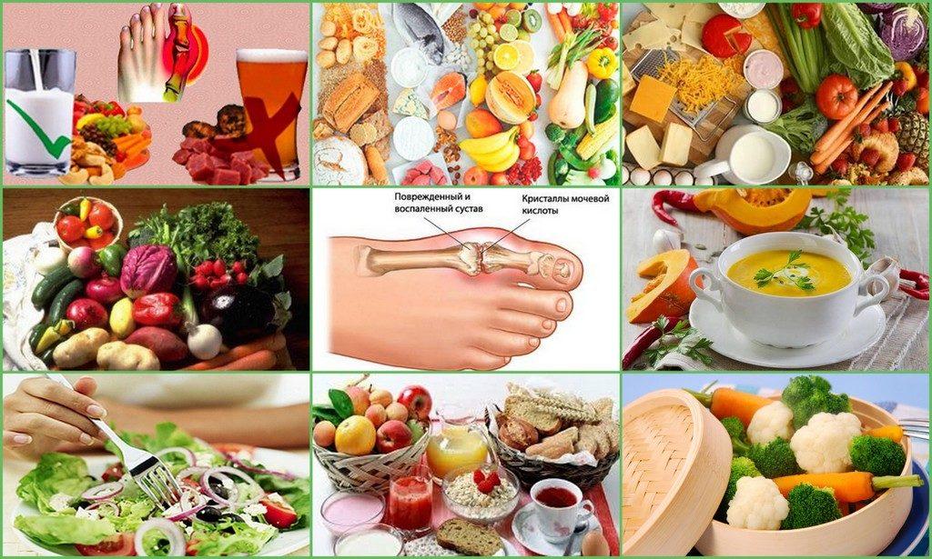 Подагра и диета на неделю