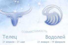 Совместимость знаков зодиака Телец и Водолей