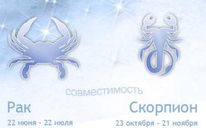 Совместимость знаков зодиака скорпион и рак