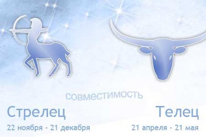 Гороскоп совместимости знаков зодиака Телец и Стрелец