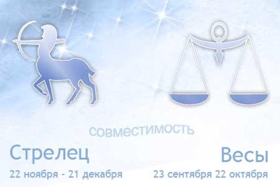 Совместимость знаков зодиака Весы и Стрелец в любви и браке