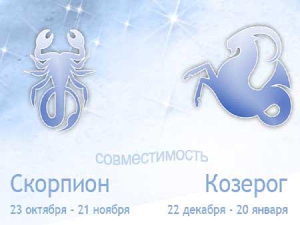 Совместимость знаков зодиака Скорпион и Козерог