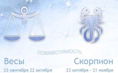 Совместимость знаков зодиака скорпион и весы