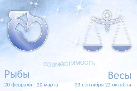 Совместимость знаков зодиака Весы и Рыбы в любви и браке