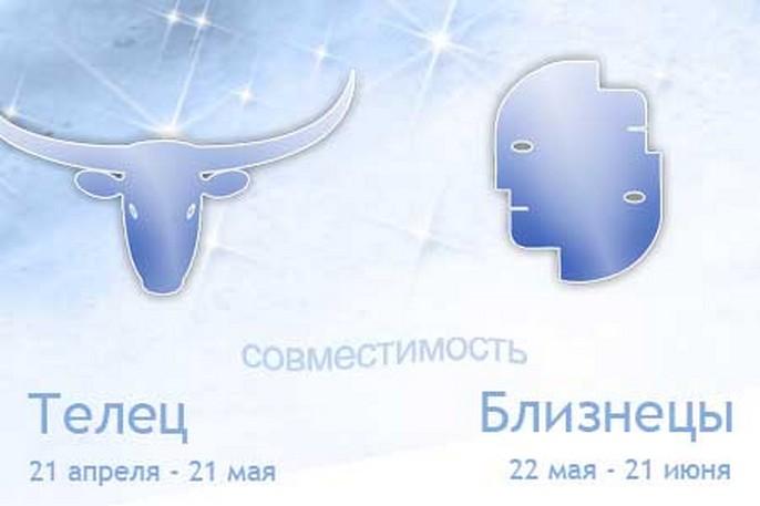 Совместимость знаков зодиака Телец и Близнецы