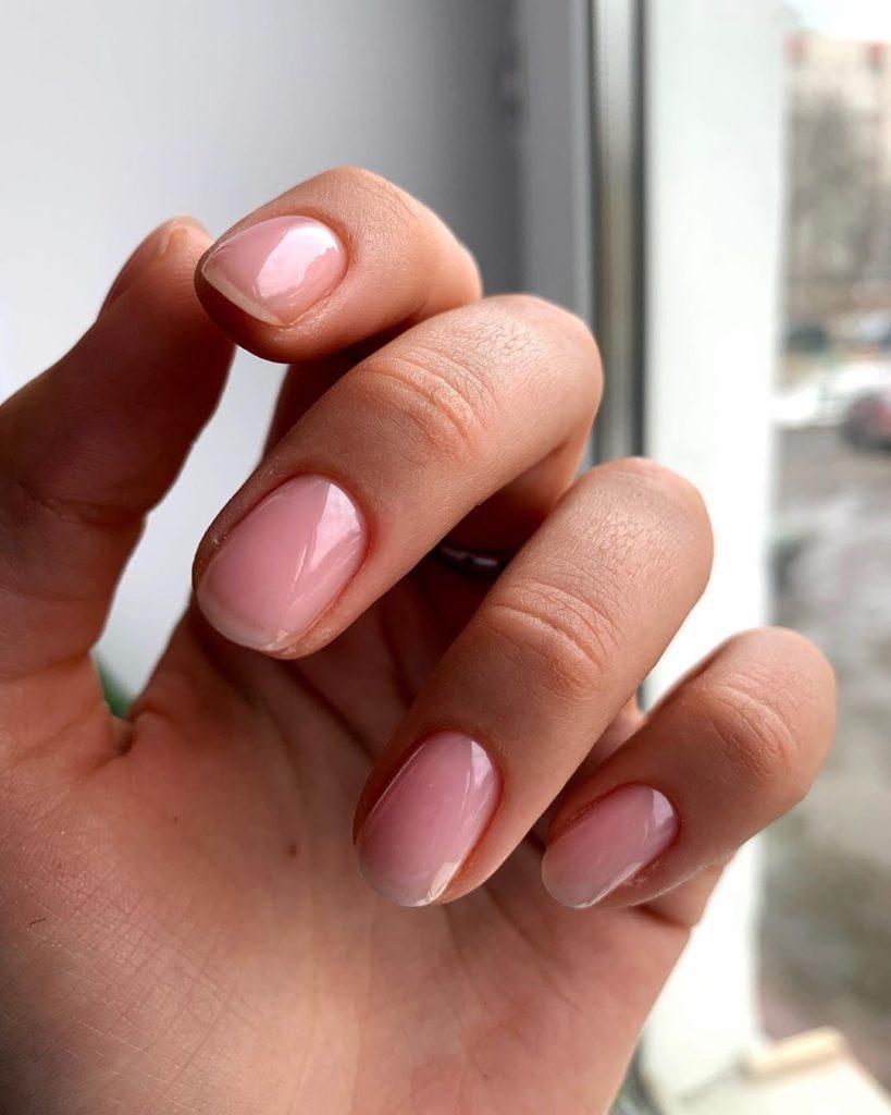 Ногти однотонное покрытие