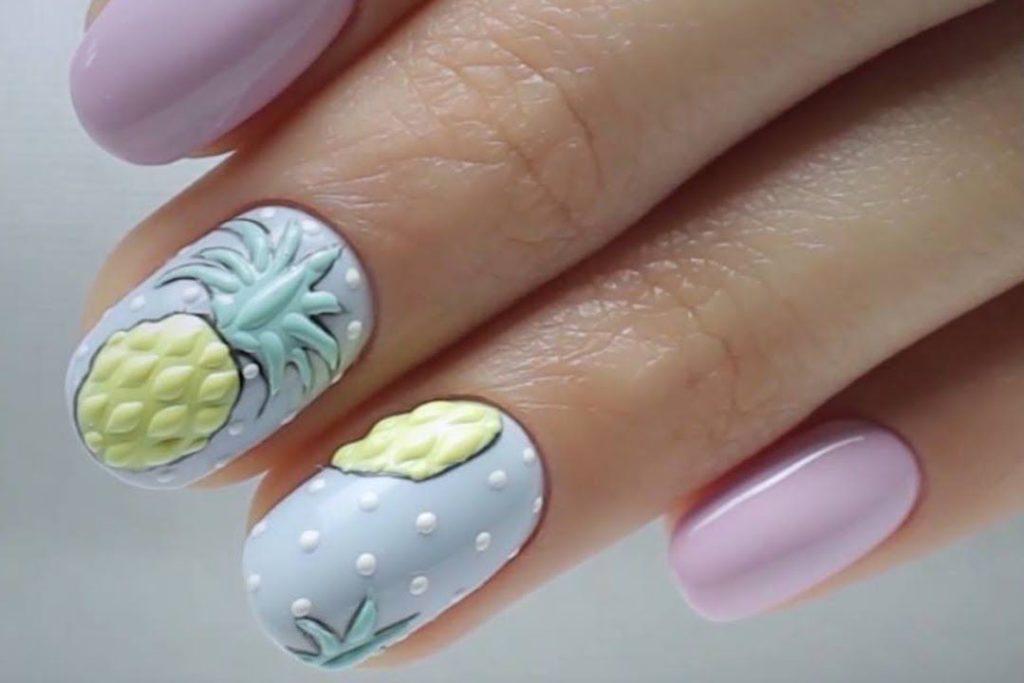 Ногти с объемным рисунком