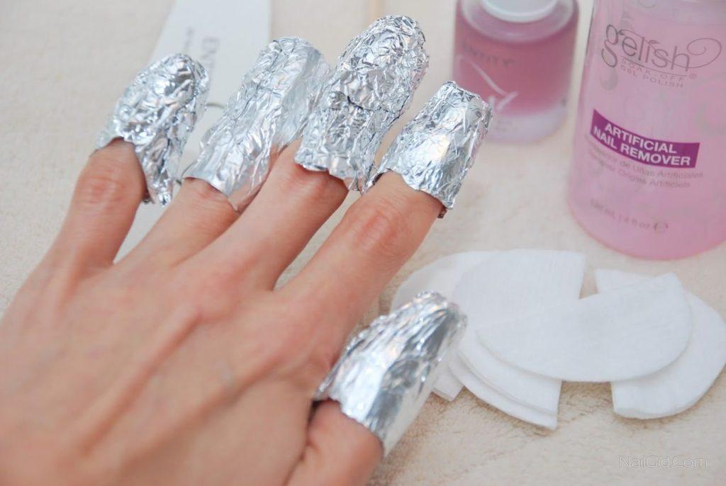 Снятие гель лака с ногтей