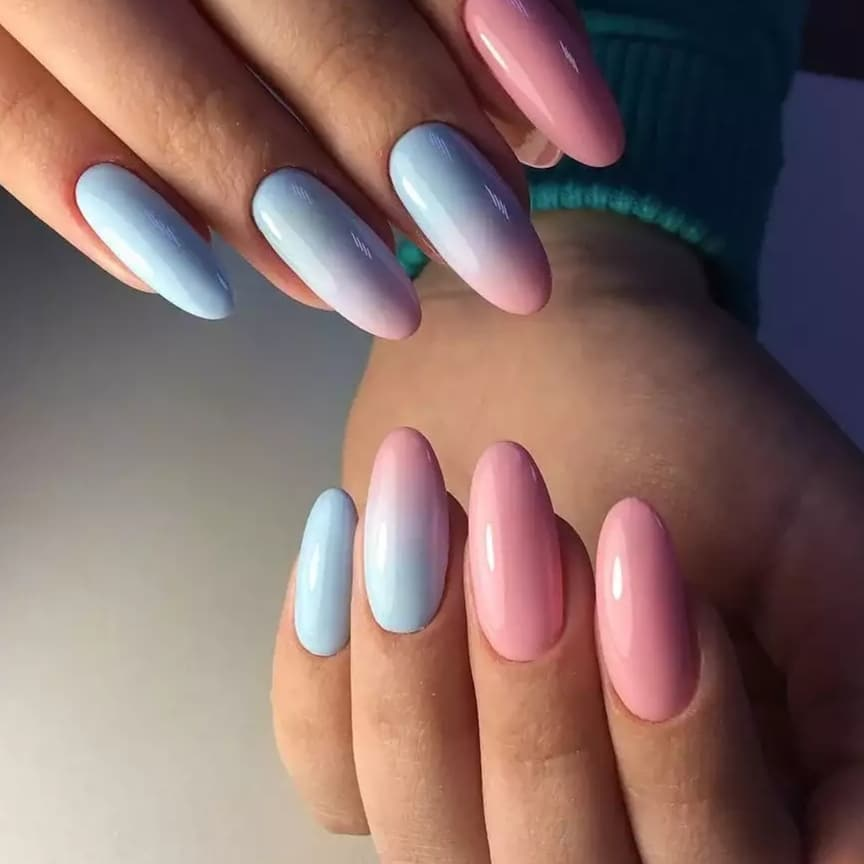 Градиент дизайн ногтей