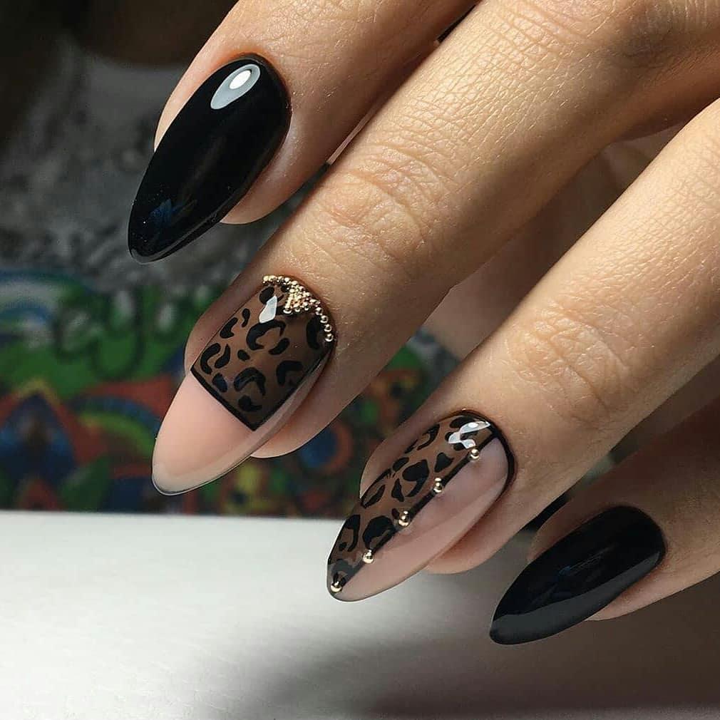 Ногти с хищным рисунком