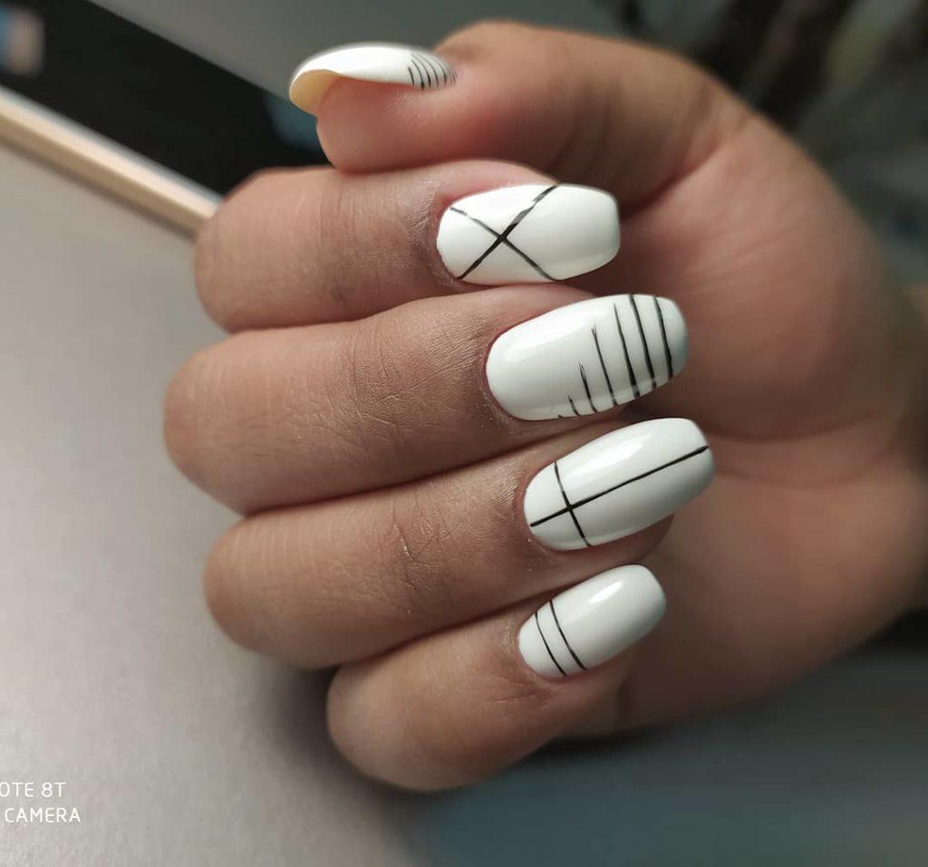 Ногти белое покрытие