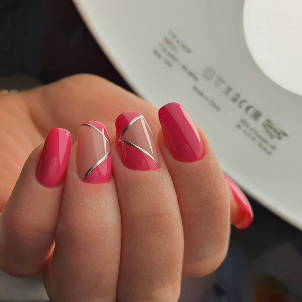 Ногти розовый цвет
