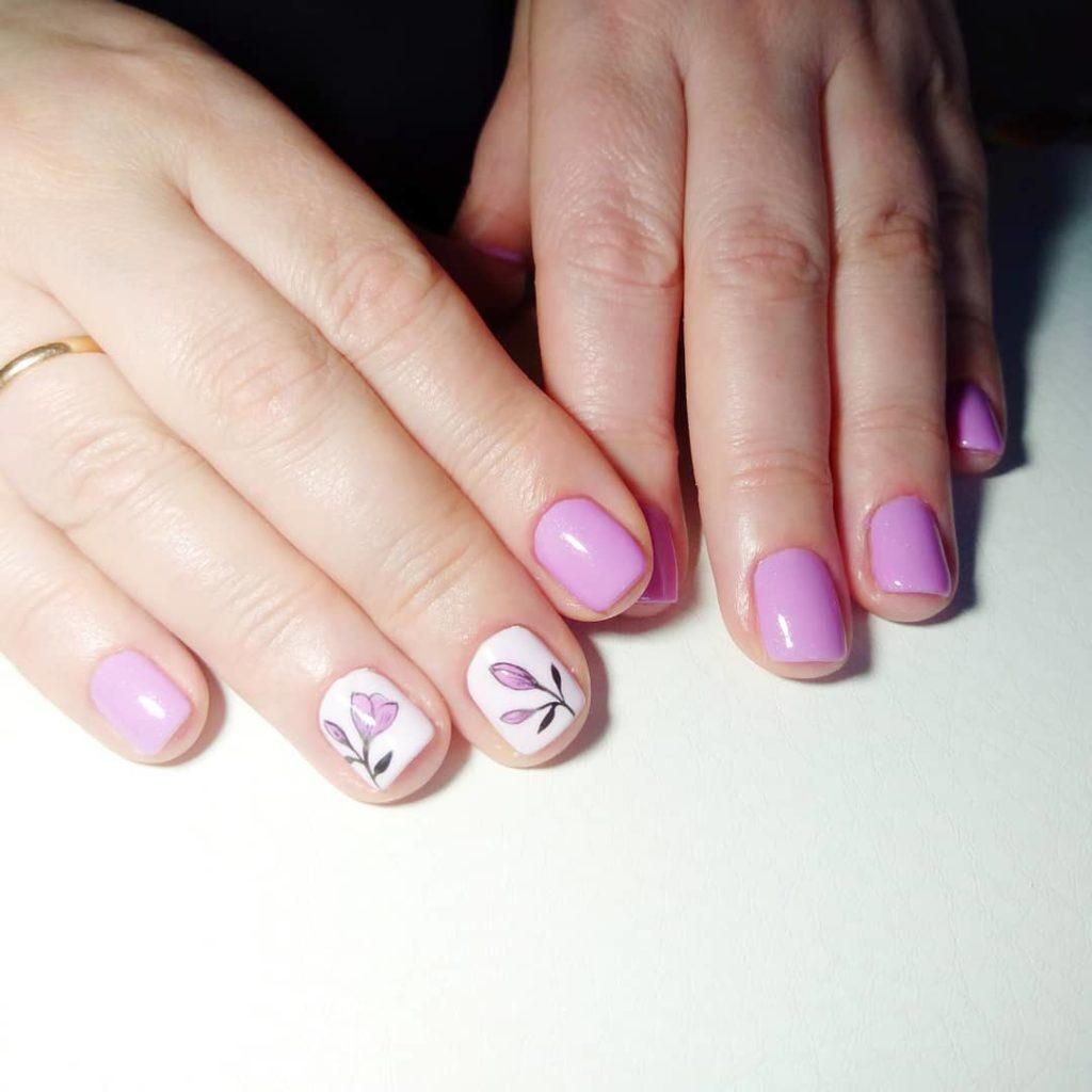 Ногти с рисунком цветов