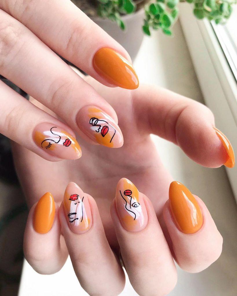 Ногти желтый цвет гель-лака